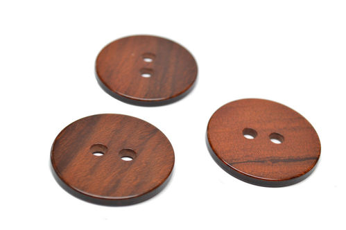 Faux Wood Buttons - Set of 3