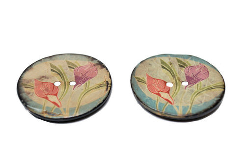 Calla Lily Buttons - Set of 2