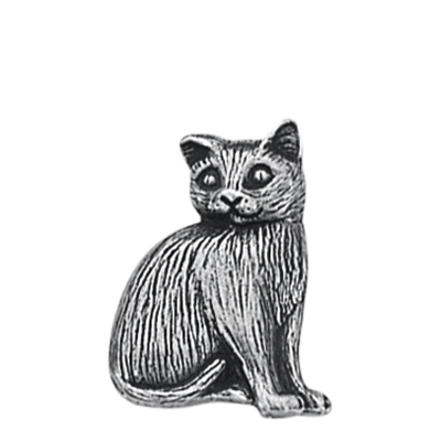 Danforth Pewter Toby Cat Button