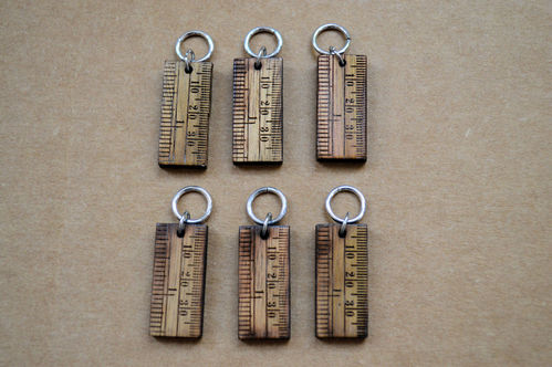 Wooden Stitch Markers - Set of 6 Rulers