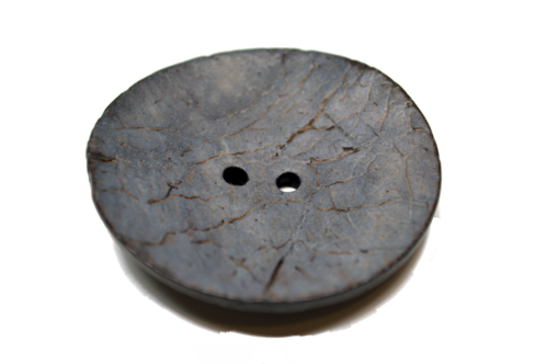 Very Large Coconut Button - Gray
