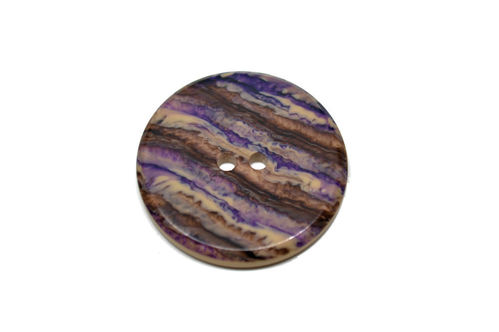 Large Round European Plastic - Brown/Purple