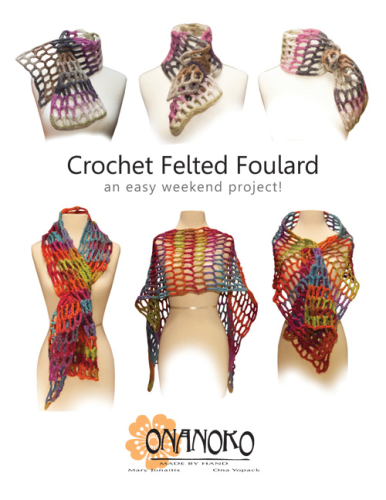 Crochet Felted Foulard - Pattern Download
