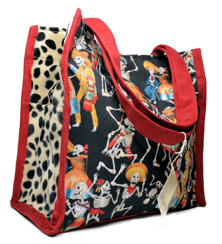 Medium Boxy Tote - Day of the Dead