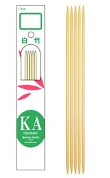 "KA 6"" Bamboo Double-Pointed Needles"