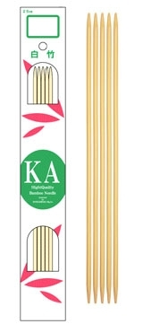 "KA 8"" Bamboo Double-Pointed Needles"