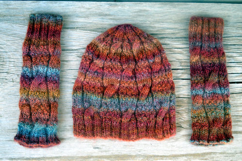 Cap and Wrist Warmers Pattern Download