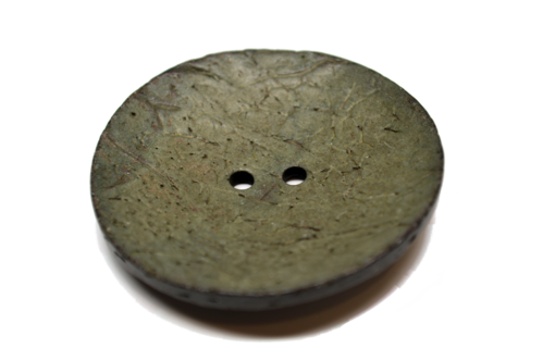 Very Large Coconut Button - Green