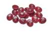 18 mm Corozo Oval - Maroon