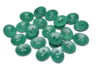 18 mm Corozo Oval - Dark Green