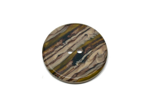 Large Round European Plastic - Brown/Green