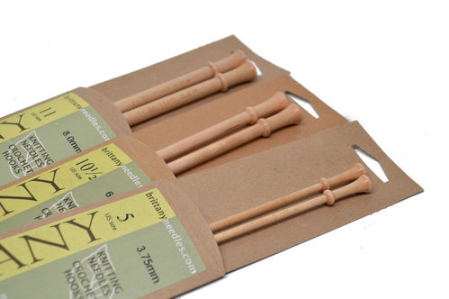 "Brittany 10"" Single Pointed Birch Knitting Needles"