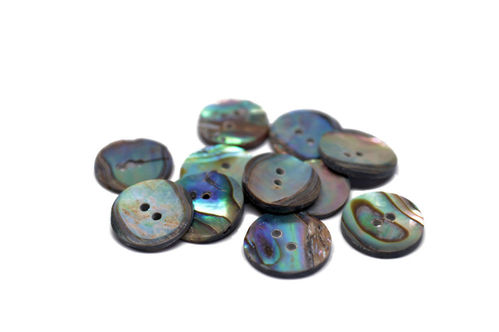 Natural Mexican Abalone Button - Small