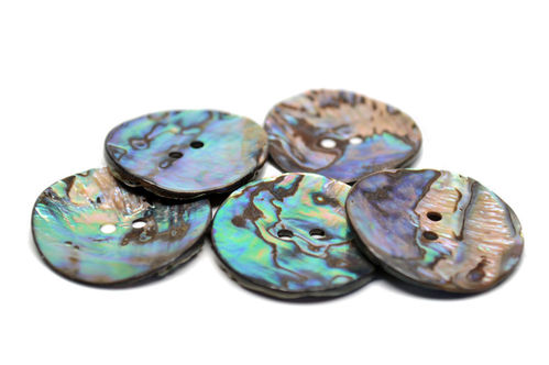 Natural Mexican Abalone Button - Large