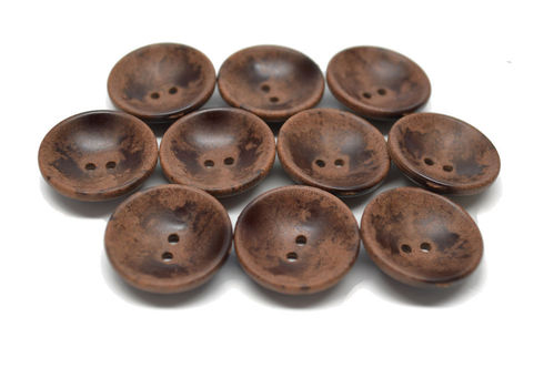 23 mm Brown Wooden Cup Button