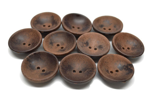 28 mm Brown Wooden Cup Button