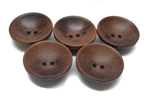 34 mm Brown Wooden Cup Button