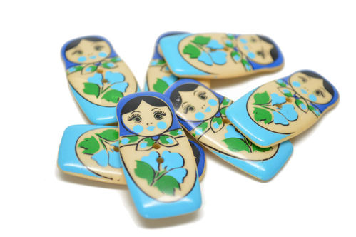 40 mm Matryoshka Doll Button